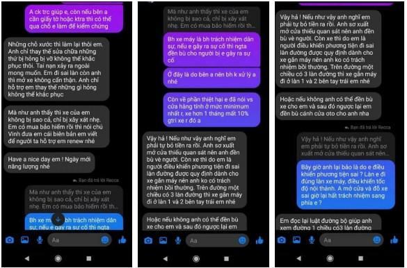 Tin nhắn bằng chứng Huỳnh Anh từ chối bồi thường