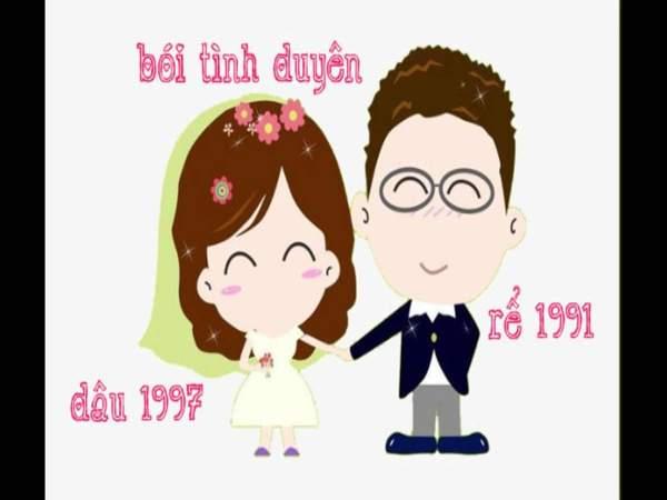 Xem tuổi vợ chồng Nam 1991 nữ 1997 chi tiết nhất
