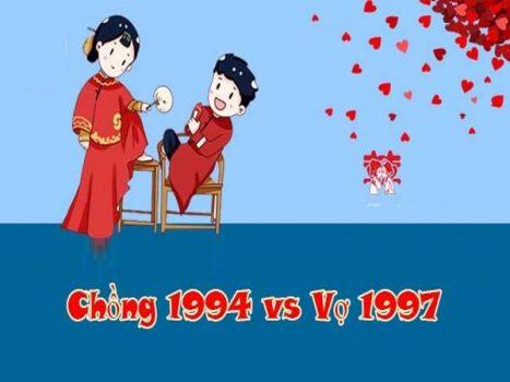 Chồng 1994 vợ 1997 cưới năm nào đẹp